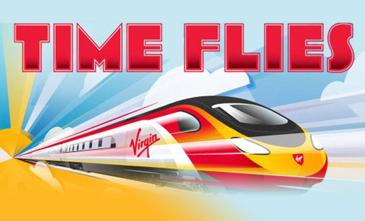 Time Flies Virgin Trains